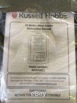 Russell Hobbs 34 Bottle Wine Cooler RH34WC1