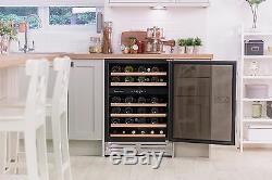 Russell Hobbs, Freestanding / Integrated, 46 Bottle Wine Cooler, RHBI46DZWC1SS