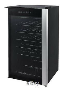 Russell Hobbs Glass Door Wine Cooler 34 Bottle Capacity Black