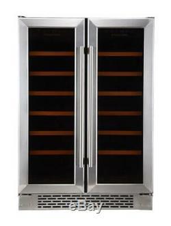 Russell Hobbs RHBI36DZWC2SS Fstanding/Integrated 36 Bottle Wine Cooler, Grade 1