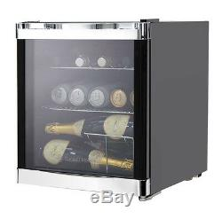 Russell Hobbs RHGWC1B-C Glass Door Wine Cooler 12 Bottle Capacity in Black