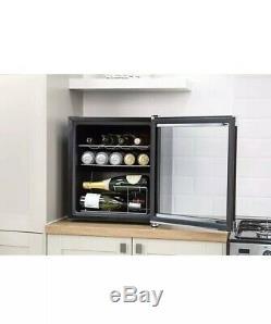 Russell Hobbs RHGWC1B Glass Bottle & Drinks Wine Cooler Black 47 Litre 12 Bittle