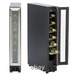 SIA WC15SS 150mm / 15cm Stainless Steel Under Counter LED 7 Bottle Wine Cooler