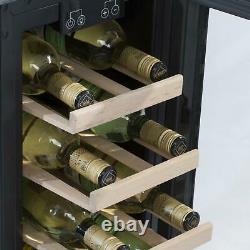 SIA WC30BL 300mm / 30cm Black Under Counter LED 19 Bottle Wine Cooler Chiller