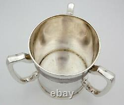 SILVER 3-handled TYG WINE COOLER, Sheffield 1899 CHAMPAGNE BOTTLE STAND
