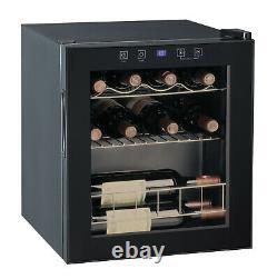 SMAD 15 Bottle Wine Cooler Under Counter Beverage Fridge 46L LED Glass Door