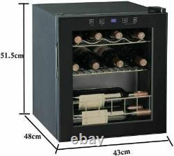 SMAD 15 Bottle Wine Fridge Compressor Cooler Beverage Cellar Freestanding Home