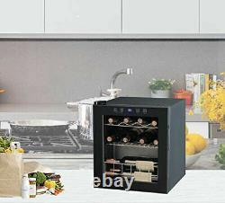 SMAD 16 Bottle Wine Cooler Beverage Fridge Under Counter 46L LED Touch Screen