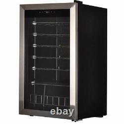 SMAD 95L 33 Bottles Wine Cooler Undercounter Drinks Beverage Fridge Glass Door