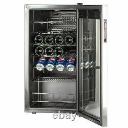 SMAD 95L 33 Bottles Wine Fridge Beverage Cooler Undercounter Thermostat Drinks