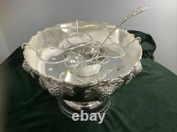 Silver plate Champagne Wine Cooler 5 Bottles Or Punch Bowl with ladel Ornate BS