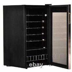 Smad 33 Bottles Wine Fridge Cooler Glass Door Stainless Steel 95L Under-Counter