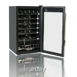 Smad 35 Bottles S/Steel Drinks Fridge Wine Cooler Glass Door Undercounter Fridge