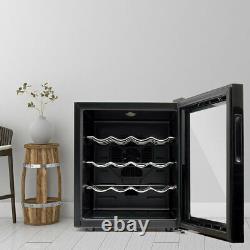 Small Tabletop Wine Cooler Cabinet 16 Bottle Drink Fridge Undercounter LED Light