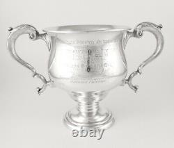Sports Trophy Woolwich Athletic Club Lawn Tennis 1920. Silver Wine Bottle Cooler