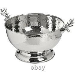 Stag Head Silver Metal Bottle Drink Ice Wine Champagne Bucket Cooler Holder