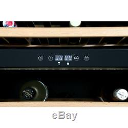 Stoves 600blkwc 46 bottle build-in/free standing wine cooler stainless 444440919