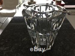 Superb BACCARAT Crystal Glass Wine Cooler/Ice Bucket with Bottle Holder