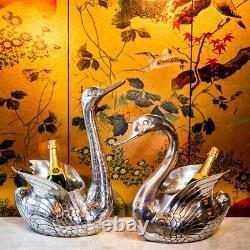 Swan Wine Cooler with Head Bowed Champagne Cooler, Bottle Cooler