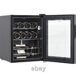 Table Top 16 Bottles Wine Fridge Mini Beverage Drinks Cooler 46L LED Glass Door