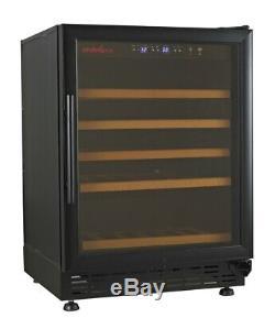 The Endeva 25-50 Wine Bottle Cooler with Glass Door
