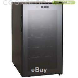 Thermoelectric Wine Cooler, Cookology CW18BK 18 Bottle, Less Noise & No Vibratio