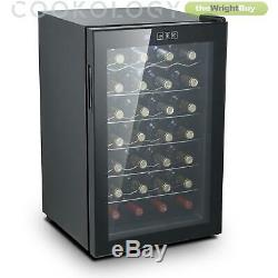 Thermoelectric Wine Cooler, Cookology CW28BK 28 Bottle, Less Noise & No Vibratio