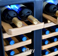 Thermoelectric Wine Coolers With Real Wood Shelves Holds & 32 Bottle Capacity