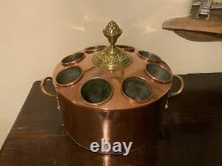 Unusual Antique Copper Bottle Wine Cooler