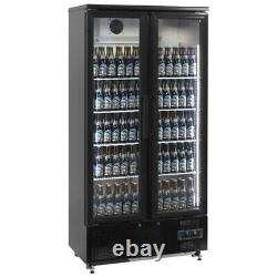 Upright Tall Two Door Back Bar Beer Wine Cooler Bottle Fridge & Free Delivery