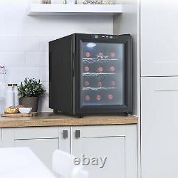 Vinekraft 12 Bottles Mini Tabletop Home Drinks Wine Cooler Fridge with LED 33L