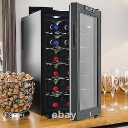 Vinekraft Wine Cooler 18 Bottles Mini Undercounter Drinks Fridge With Class Door