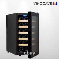 Vinocave Stainless Steel Freestanding Wine Refrigerator Cooler Fridge -18 Bottle