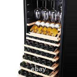 Vinocave Stainless Steel Freestanding Wine Refrigerator Cooler Fridge 95 Bottl
