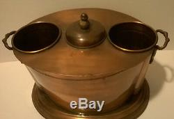 Vintage All Copper 2 Wine Bottle Ice Bucket Cooler. Gorgeous! India