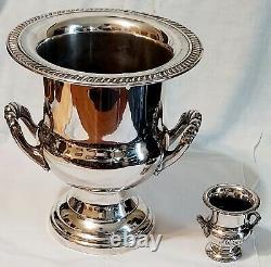 Vintage Silverplate Wine Cooler Trophy Bottle Chiller