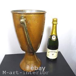 Vintage Weinkühler Sektkühler Kupfer, Wine Bottle Champagner Cooler 1930-1950