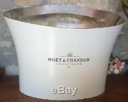 Vintage white, multi bottle MOET & CHANDON Champagne, wine cooler, ice bucket