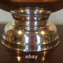 Vtg Punch Centerpiece Bowl Silverplate Wine Cooler Chiller Grape 5 Bottle Large