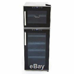 Whynter 21 Bottle Dual Temperature Zone Touch Control Wine Cooler New
