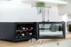 Wine Bottle Chiller Cooler Fridge Mini Bar Beer Table Top Counter Refrigerator