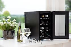 Wine Bottle Cooler Drink Chiller Cellar Rack Refrigerator Glass Door Bar Fridge