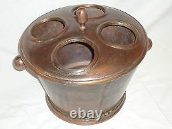 Wine Champagne Cooler 4 Bottle With Vintage Copper Finish -Ice Bucket Nice Gift