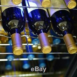 Wine Cooler 27 Bottle Compressor Cooler Cellar Countertop Freestanding Red White