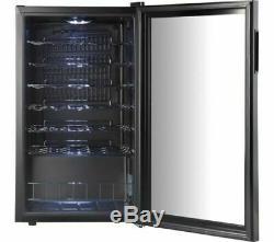Wine Cooler 34 Bottles Drinks Chiller Refrigerator Commercial Bar Black Fridge