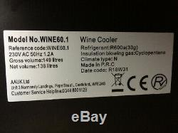 Wine Cooler 46 bottle 60cm build-in/free standing wine cooler stainless