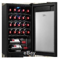 Wine Cooler Bottle Cellar Fridge Refrigerator Chiller Metal Mini Home Electric
