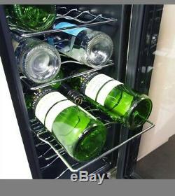 Wine Cooler Chiller in Black, Culina 300mm 18 Bottle Wine Rack RRP £289
