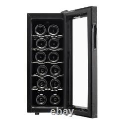 Wine Cooler Drinks Fridge Touch Screen Commercial Bar 12 Bottles Storage Cellar