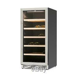 Wine Cooler Fridge Refrigerator Bar Restaurant 122 Bottles Glass Stainless Steel